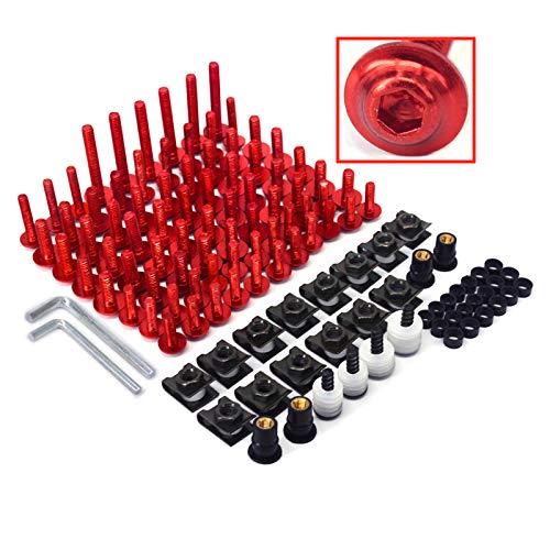 Xin, kit completo di bulloni per parabrezza in alluminio CNC, per CR125R, CR250R, CR500R, CRF450, CRF250, colore: rosso