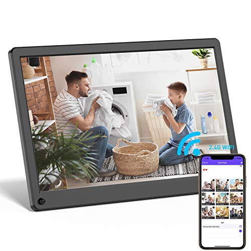 Digital Picture Frame WiFi 12 Inch Digital Photo Frame Full HD 1920x1080 IPS Screen Display, Share Photos and Videos via App, Email, Cloud, Stereo Video Music Player, Best Gift