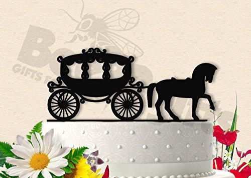 Cinderella Inspired Horse and Carriage Wedding Cake Topper