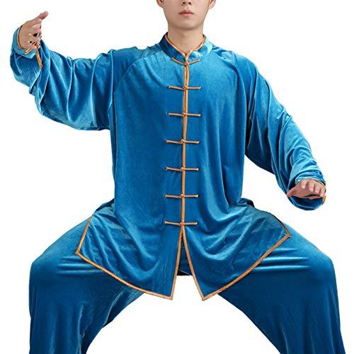 Tai Chi Anzug Kampfkunst Frauen Sportkleidung Gold Samt warme mittlere Alter und ältere Morgen Performance-Kleidung