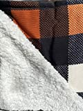 Berkshire Home Sweater Knit and Sherpa Reversible Throw (Fall Sweater Buffalo Plaid)