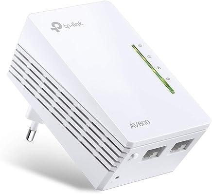 TP-Link TL-WPA4220 - 1 Adaptadores de Comunicación por Línea Eléctrica (WiFi AV 600 Mbps, PLC con WiFi, Extensor, Repetidores de Red, Amplificador y Cobertura Internet, 2 Puertos, Cable Ethernet)