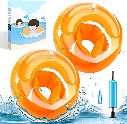 Schwimmflügel Kinder Aufblasbares Airbags 1-4 Jahre alt männliches und weibliches Kinderschwimmbecken Sicherheitsassistenzgerät, Schwimmringarmumfang 21-23 cm,empfohlenes Gewicht 6-20 kg