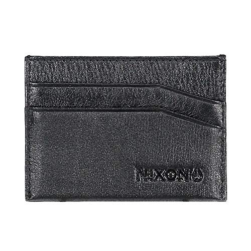 NIXON CARTERA EUROPE FLACO LEATHER CARD WALLET Hombre