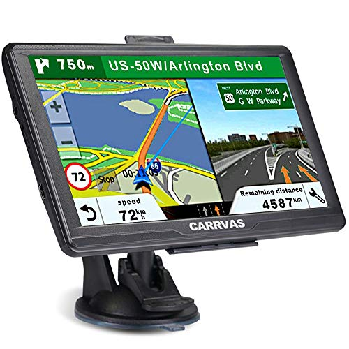 GPS Navigation for Car,North America Map 2020 Vehicle GPS Satellite Navigation System for Cars, Voice Turn Direction Reminder, Truck GPS Route, Lifetime Free Update Map