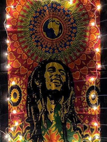 ICC Bob Marley Laughing Poster 76,2 x 101,6 cm Hippie-Stil psychedelische Flagge Geschenk Wandbehang Wohnheim Dekoration Decke Wandteppich Hippie Rasta Reggie Matte Dekoration