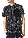 adidas NMD AOP Camiseta, Hombre, Negro/Blanco, XS