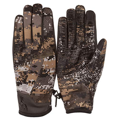 Bonded stealth hunting glove -- Huntworth Men's Light Weight, Hybrid Hunting Gloves, Disruption Camo, X-Large