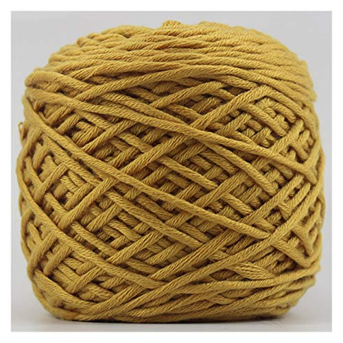 QXYOGO Chunky Yarn Wool woven scarf sweater thick yarn 16 stars needle cotton wire men's women weaving scarf 1 (Color : 12 turmeric)