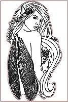 女の子のクリアスタンプまたはDIYスクラップブッキング/カード作成/キッズ楽しい装飾用品のスタンプA106