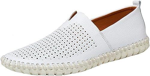 Willsego Chaussures en en Toile pour Hommes Chaussures Tout-Aller Chaussures Lofo Chaussures Confortables Lazy Confortables (Couleuré   6, Taille   48EU)  nouveau style