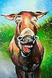 Adultos y niños por kit de pintura digital pintura al óleo sonrisa digital burro animal-
