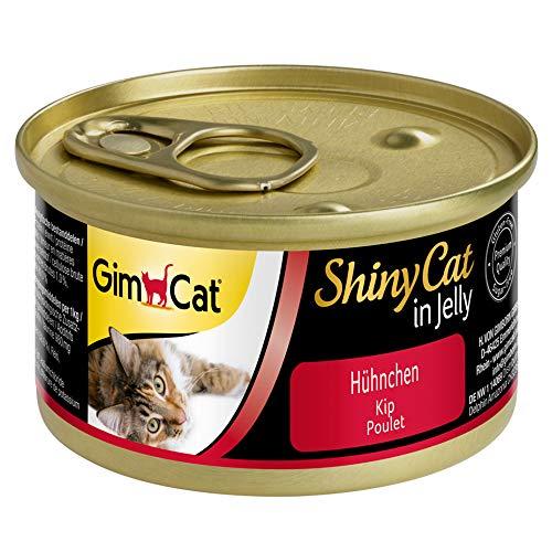 GimCat ShinyCat in Jelly Nourriture Humide pour Chat avec Viande et Taurine 48 boîtes (48 x 70 g)