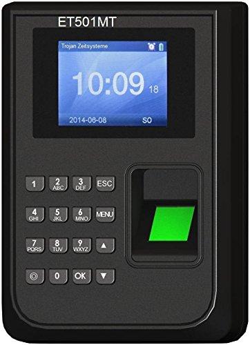 Rechnendes Terminal ET501MT für bis zu 30 Personen inkl. 30 Schlüsselanhänger/Zeiterfassung-Terminal Fingerprint/Optional bis 100 Personen