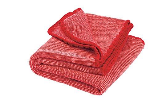 Disana Melange-Babydecke Wolle, Größe: 80x100 cm, Rot/Rose Melange, 80x100 cm
