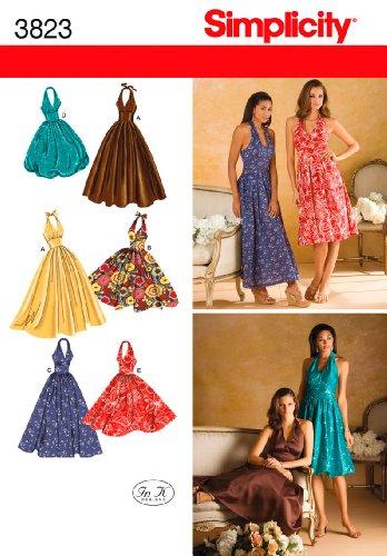 Simplicity Schnittmuster 3823 Damenkleid mit Rock und Längenvarianten Gr. 42-44-46-48-50