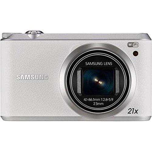 "Samsung WB350F White 16MP BSI CMOS 3"" TFT LCD 21x Optical Zoom HD Digital Camera, 16GB SD Card and Case"