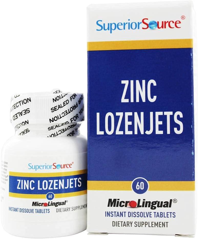 Superior Source - Zinc Lozenjets - 60 Quick Dissolve Tablets