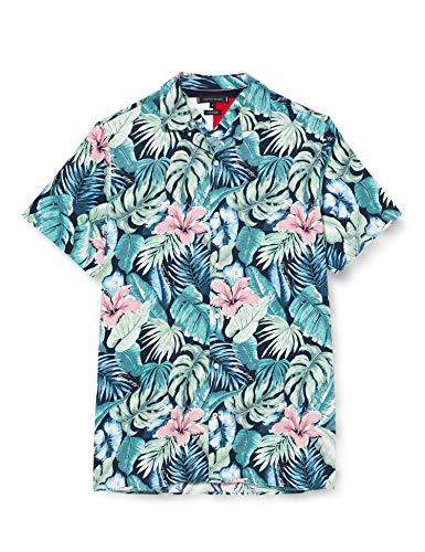 Tommy Hilfiger Camisa de Manga Corta con Estampado Hawaiano