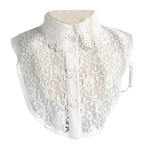 Lynn Stylish Detachable Half Shirt Half Blouse with Floral Lace Fake Collar Elegant...