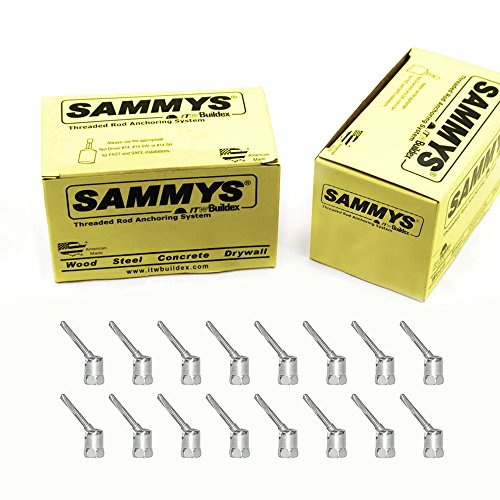 Everflow Sammys 8137957-50 SH-DSTR 1 3/8 Inch Screw Swivel Expandable Threaded Rod Anchor Designed for Pipe Hanger, Installs 17 Deg Angle Off Vertical,Electro-Zinc Finish (Pack of 50), 50 Piece
