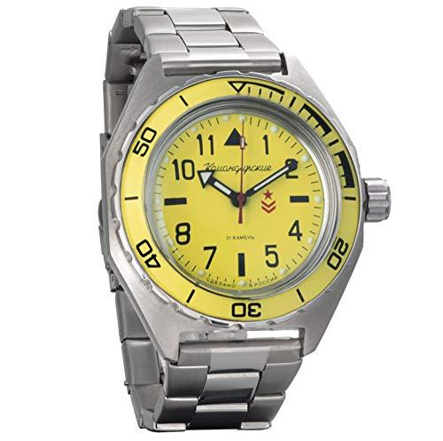 Vostok Komandirskie Military Russian Mechanical Self-Winding Mens Wrist Watch 2416B/650859