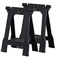 STANLEY Folding Junior Work Bench Saw Horse Twin Pack, with Tray for Tools and Small Parts, STST1-70...