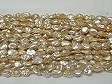 淡水パール 真珠 ナチュラル(天然) 再生珠(ケシ)7.5~8.5mm 一連(約38~40cm)