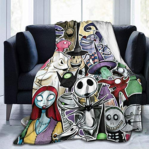Wakaltk The Nightmare Before Christmas Throws Blanket Comfort Lightweigt Warmth Soft Cozy Blanket Fleece Blanket Couch Blanket Reversible Bed Throw TV Blanket for Kids Boys Girls 50' x40