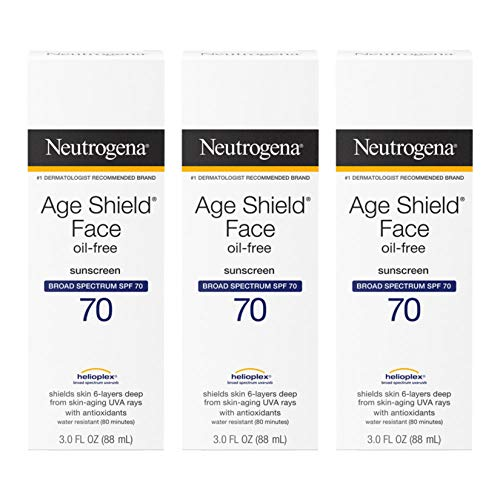 Neutrogena Age Shield Face Oil-Free Sunscreen Lotion with Broad Spectrum SPF 110, Non-Comedogenic Moisturizing Anti-Aging Sunscreen to Help Prevent Signs of Aging, PABA-Free, 3 fl. oz
