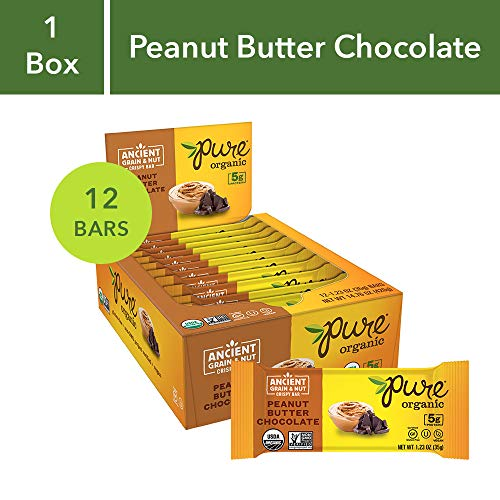 Pure Organic Peanut Butter Chocolate Ancient Grain Bars