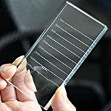 2-in-1 Crystal Glass False Lashes Adhesive Glue Pallet Holder for Eyelash Extensions, 4'' x 2'' x 0.4''