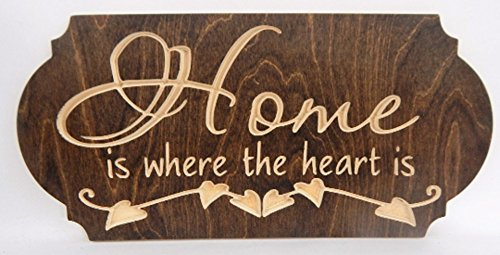 Amazon Com Handcrafted Wood Sign Home Is Where The Heart Is Family Great Gift Rustic Home Decor Handmade,Best Wireless Charging Station For Apple Watch And Iphone