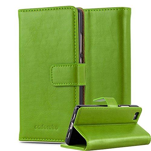 Cadorabo Funda Libro para Huawei P8 Lite 2015 en Verde Hierba – Cubierta Proteccíon con Cierre Magnético, Tarjetero y Función de Suporte – Etui Case Cover Carcasa