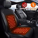 Audew Car Heated Seat Cushion 12V Heated Seat Cover for Car, Car Heated Pad Car Seat Warmwer Heater with Intelligent Temperature Controller