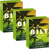 BILT Natural Bar Soap for Men 8 oz, South Beach - Peppermint & Lime (3 Bars)