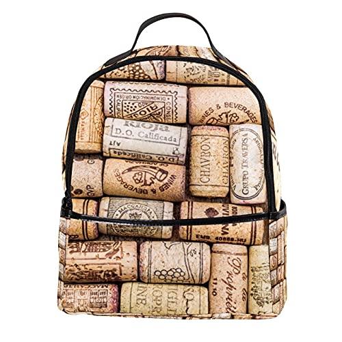 ATOMO - Mini zaino casual con tappo per vino, in pelle PU, ideale per viaggi e shopping