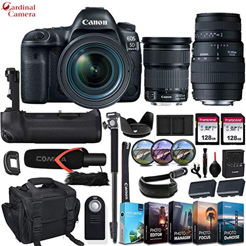 Learn More About Canon EOS 5D Mark IV DSLR Camera + EF 24-105mm f/3.5-5.6 is STM & Sigma 70-300mm f/...