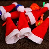 NNA Mini Adornos de Navidad Sombrero de piruleta de Navidad Sombrero Lindo no Tejido de Navidad Accesorios de Navidad para Regalo de niños - Rojo