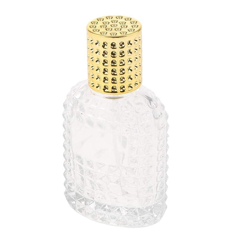 定規メガロポリス熱ガラス 香水瓶 空 スプレー香水ボトル 美しいパイナップルデザイン 詰め替え可能 全4種 - ゴールド50ml