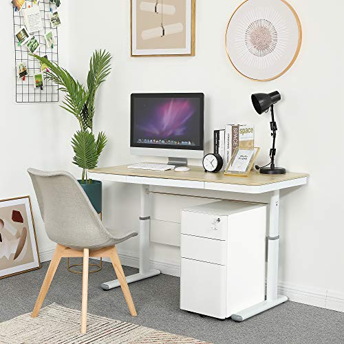 YITAHOME 3-Drawer Metal Filing Cabinet Office Drawers with Keys, Compact Slim Portable File Cabinet, Pre-Built Office Storage Cabinet for A4/Letter/Legal (White)