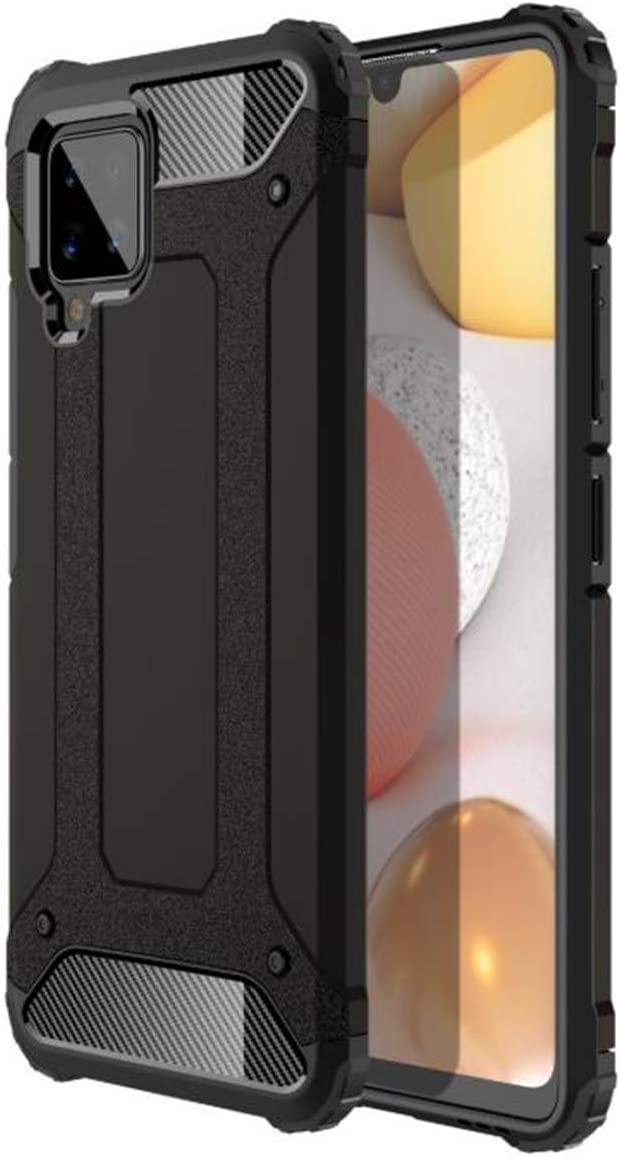 Lozeguyc Heavy Duty Protection Case for Galaxy A42 5G Case with Four Bumper,15ft Military Grade Drop Tested Dual Layer Phone Cover Compatible with Samsung Galaxy A42 5G-Black