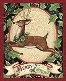 Veedaf 34' Christmas Fabric Panel - Springs Susan Winget Woodland Deer Wallhanging