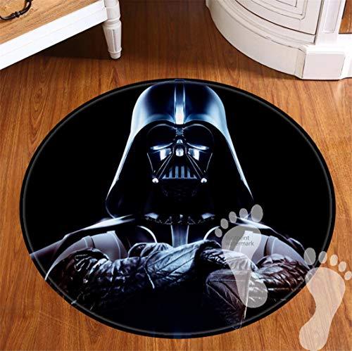 ROOMBADHL Runde Badematten für Badezimmer, rutschfeste Unterseite, Badvorleger für Böden, Dusche, Küche, Flanell-Teppich, 50,8 cm, Star Wars Collection Darth Vader Anakin Skywalker Jedi