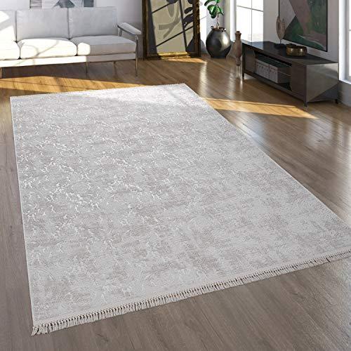 Alfombra Salón Pelo Corto En Diseño Oriental Lavable En Beige, tamaño:120x180 cm