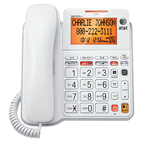 in budget affordable AT & T CL4940 Standard Cable Phone, Answering Machine and Backlit Display, White (Updated)