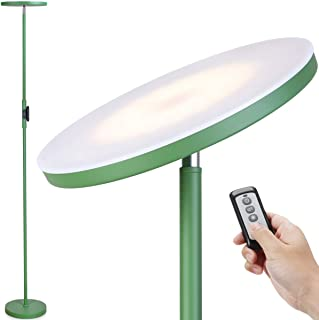 Floor Lamp-JOOFO LED Floor Lamp with 3 Color Tempearatures&Stepless Dimming,2400 Lumens,Adjustable Floor Standing Light with Remote for Living Room Bedroom Office (Avocado Green)