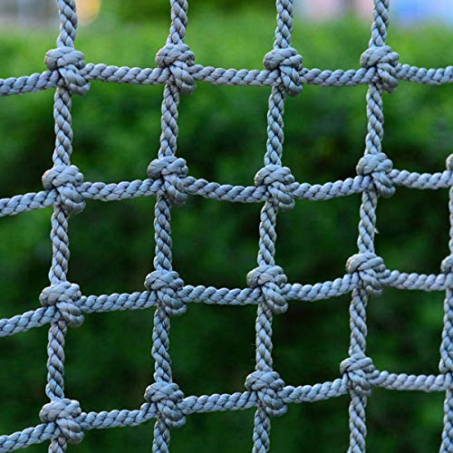 QFSLR Garden Climbing Frame Net for Kids Indoor And Outdoor Playing, Cargo Net Fun for The Children's Playground, Max Load 400 Kg (881 Lb) Rope Climbing Net,1 * 2m(3.3 * 6.6ft)