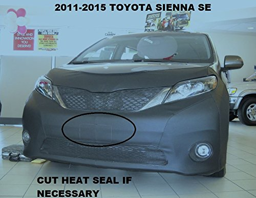 Lebra 2 piece Front End Cover Black - Car Mask Bra - Fits - 2011-2015 Toyota Sienna SE