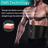 NOBRAND Electroestimulador Muscular Abdominales, Estimulación Muscular Masajeador Eléctrico Cinturón Abdomen/Brazo/Piernas/Glúteos no Necesita Almohadillas ni Gel USB Recargable